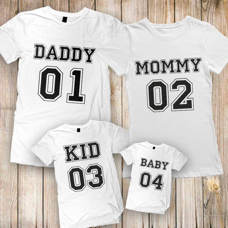 09892c527 Family shirt Mommy Daddy Baby 01 Father Mother Daughter Son   Etsy