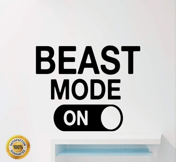 Fitness Motivational Wall Decals Quotes Beast Mode Gym Sport Inspirational  Home Decor