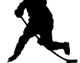 Hockey player decal