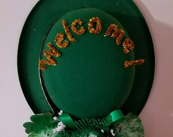 St Patrick's Day welcome hat