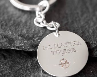 Quote Keychain - Personalized Keychain - Engraved Keychain - Custom Keychain  - Personalized Keyring - Engraved Keyring - Personalized Gift cc19953470