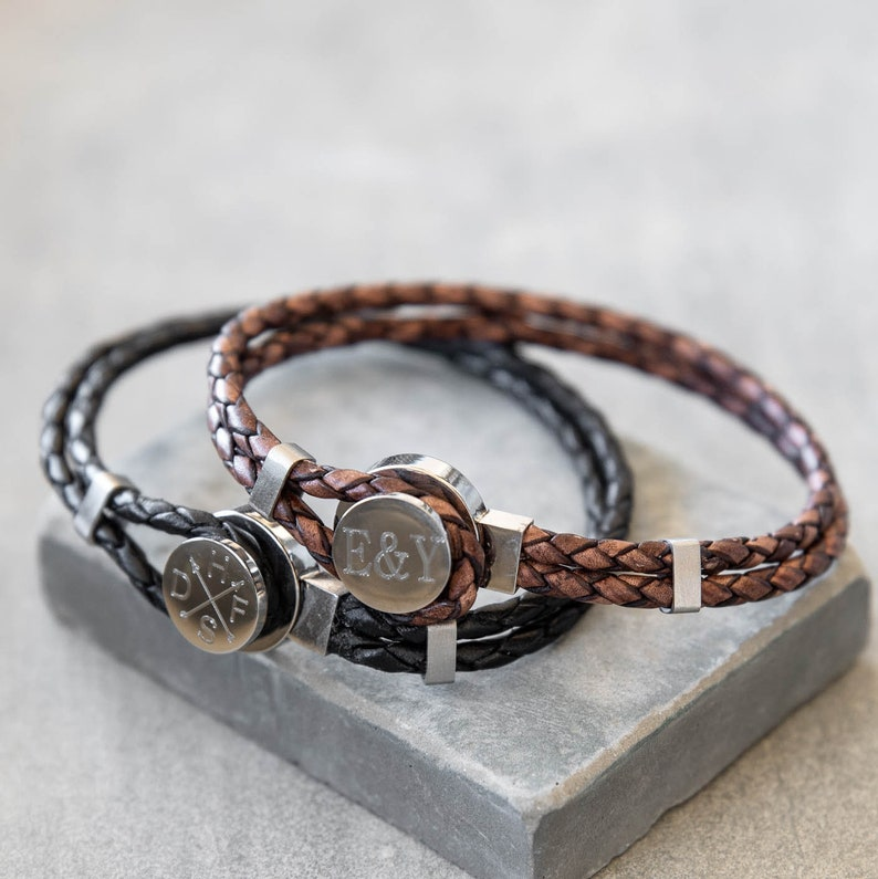 Men/'s Personalized Bracelet Husband Personalized Leather Bracelet Men/'s Custom Bracelet Boyfriend Gift Men/'s Engraved Bracelet