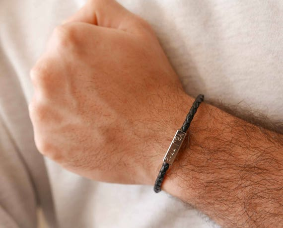 Men/'s Personalized Bracelet Personalized Name Bracelet Men/'s Custom Bracelet Men/'s Engraved Bracelet Personalized Initials Bracelet