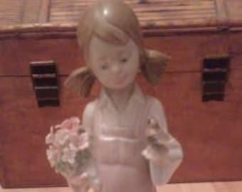 Lladro Girl in the Garden