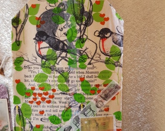 Journal tag bag birds