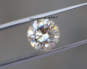 Loose Moissanite J-K White Color VVS Round Excellent Cut 6.00 MM to 9.75 MM
