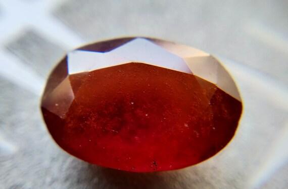 10,15 CT 15,63 * 11.11 11.11 11.11 * 6.39 MM naturel grenat Hessonite pour la fabrication de Bracelet/pendentif/bague   Grenat naturel de Hassonite   Certifié Hassonite grenat 2539f9