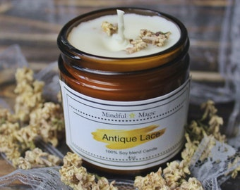 Antique Lace Soy Candle, Candle, Soy Candle, Lilac Candle, intention candle, spell candle, blessing, witchcraft