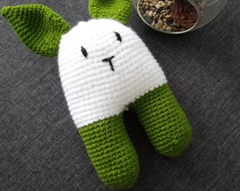 Hand crochet knitted toy