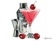 Martini Fine Art Print. Cocktail Fine Art Print.