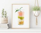 Yogurt glass Fine Art Print