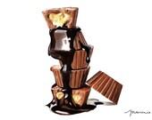 Chocolates fine art print. Chocolates Illustration.