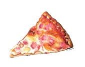 Pizza fine art print. Pizza illustration