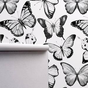 Graffiti crown removable wallpaper black and white wall mural wall art #438
