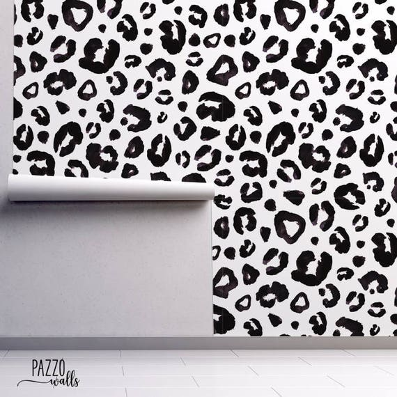 Animal Print Wallpaper Renters Decor Regular Self Adhesive Black Animal Print Wallpaper Wall Mural Removable Wallpaper 26