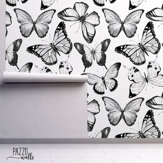 Watercolor Butterfly Wallpaper FREE SHIPPING Wall Mural