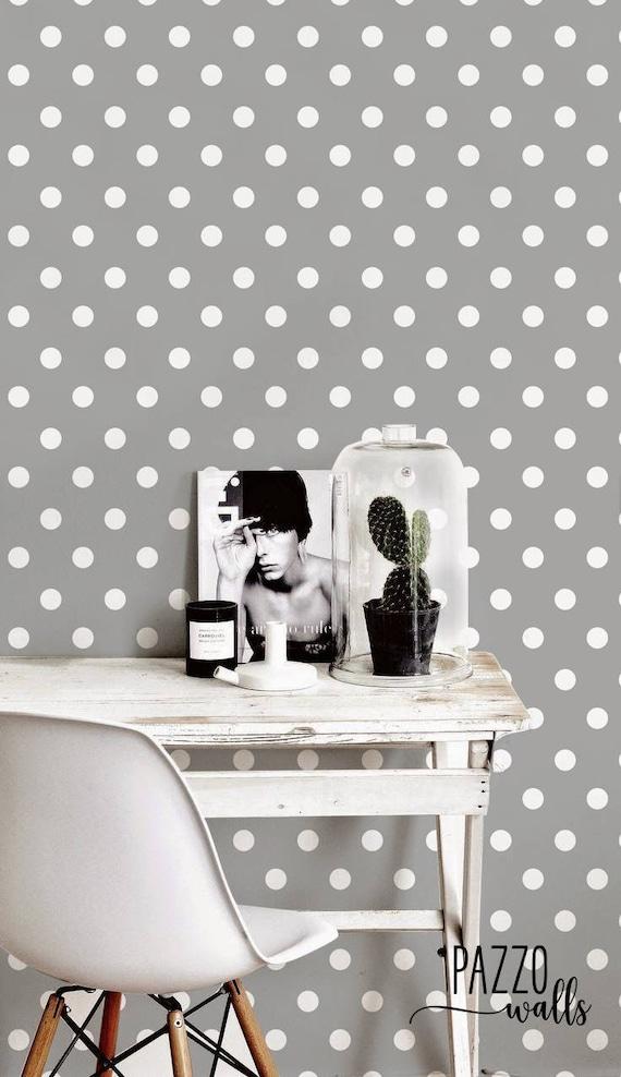 Renters decor Pastel Wallpaper #44 Polka dot Wallpaper Peel and stick self adhesive wallpaper or traditional wallpaper