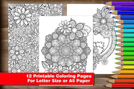 - Adult Coloring Pages 12 Printable High Res .jpg For Adults Etsy