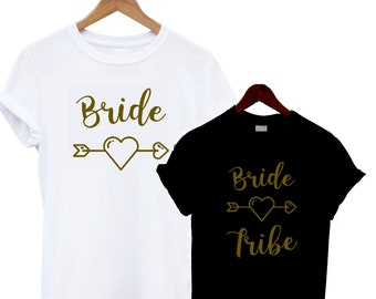 c6a0b515e0 Bride/ Bride Tribe T Shirt Bloggers Present Gift Slogan Statement Fashion  Tee Top Hen Do Party Abroad Holiday Squad Getting Married Engaged
