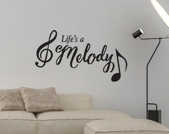 Life's A Melody - Wall Decal