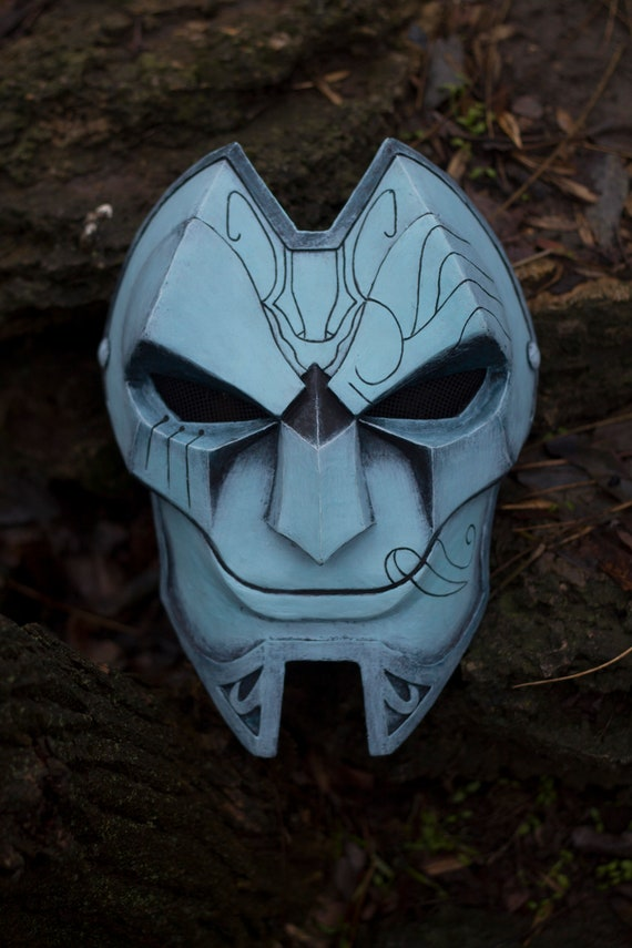 League Of Legends Jhin Mask 2 Inspired For Cosplay Etsy