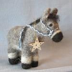 Donkey Needle Felting Kit - Christmas Donkey - Donkey Friends (makes 2) - DIY Felting Kit - Complete Kit - Start Felting