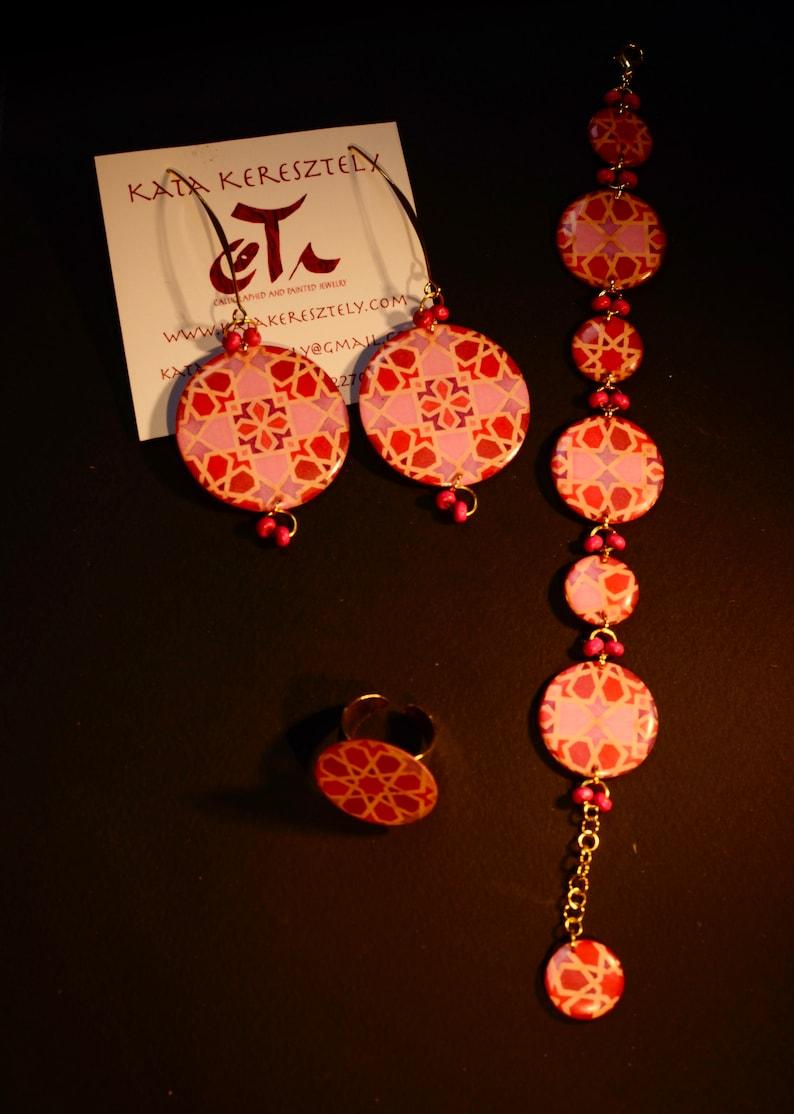 dangling earrings women/'s jewel gift red oriental earrings Ethnic original earrings