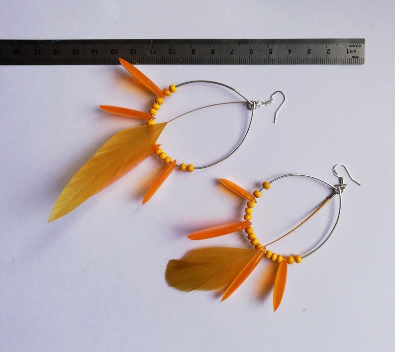 creole summer feathers creoles yellow creoles yellow creoles pearl creoles fancy creoles Hippie earrings jewel art