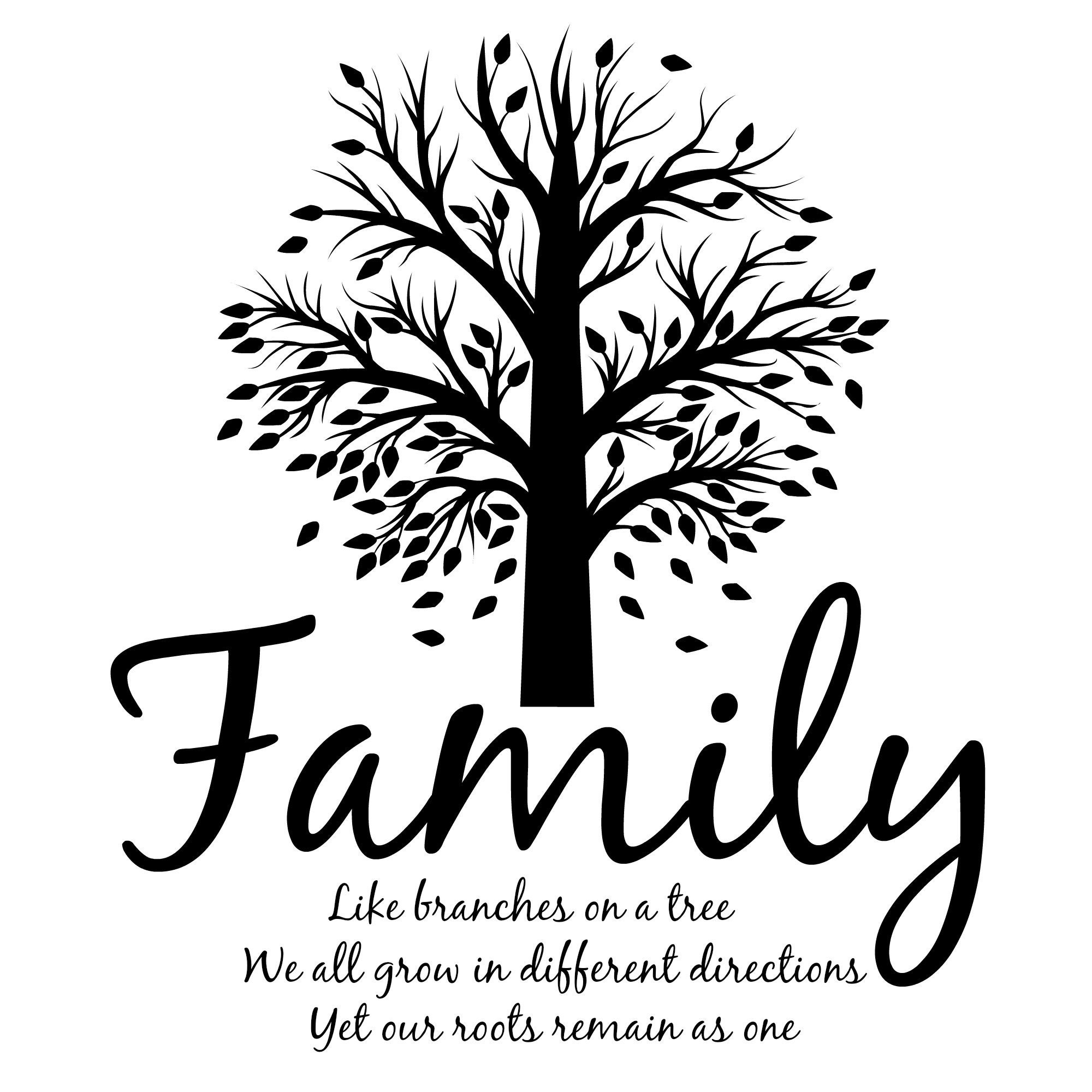 Family Like Branches On A Tree Laptop Decal Tumbler Decal Ipad