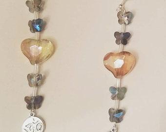 Iridescent butterfly ohm earrings