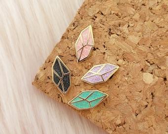 Crystal Gemstone Tiny Hard Enamel Mini Pin Board Filler .5 Inch