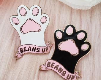 """Beans Up Hard Enamel Pin 1.75"""" Cat Paw Toe Cute Kawaii"""