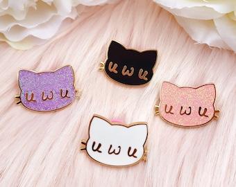 UwU Cute Cat Furry Hard Enamel Pin