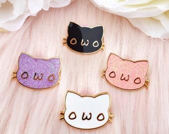 OwO Cute Cat Furry Hard Enamel Pin