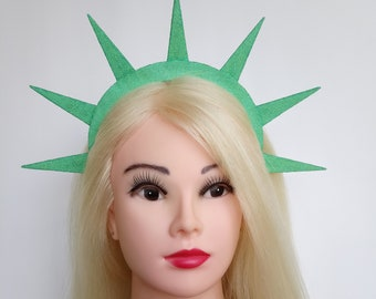 Statue Liberty crown 4th july headband  Lady liberty glitter headpiece Patriotic headband