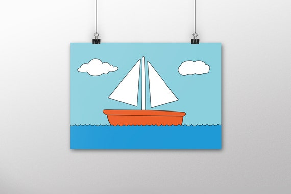 Simpsons Wall Art Simpsons Living Room Boat Picture Simpsons Art Simpsons Poster Home Decor Simpsons Gifts The Simpsons A4 Print