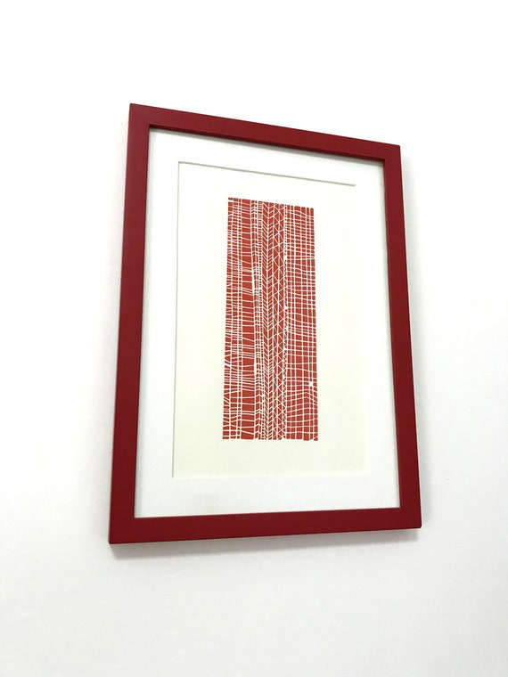 HANDMADE Abstract lines linoleum prints A4 size 21x29.7cm Wall Art Home Decor Original Art LINOCUT PRINT Carved and printed by hand