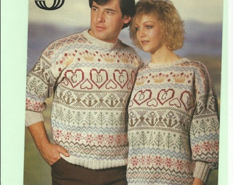 f07cf3f810 vintage knitting pattern fair isle jumper