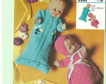 vintage knitting pattern dols clothes