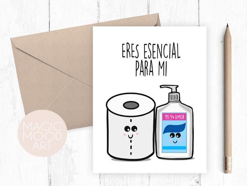 Eres Esencial Para Mi Card  Valentine/'s Day Card  Gifts for Her  Gifts for Him  Valentines Day Card  Spanish Card  Card in Spanish