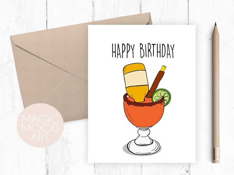 Happy Birthday Michelada Card