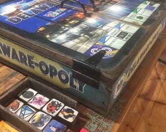 Delaware-opoly Delaware Deluxe Wooden Board Game