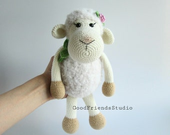 Crochet sheep , Cute sheep gifts ,Knitted lamb , Stuffed toy sheep , Amigurumi lamb , Sheep figurine , Sheep doll , Sheep plush , Sheep toy