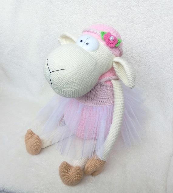 Crochet Lamb Crochet Sheep Big Stuff Animal Amigurumi Etsy