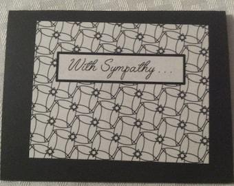 Little Black Sympathy Card