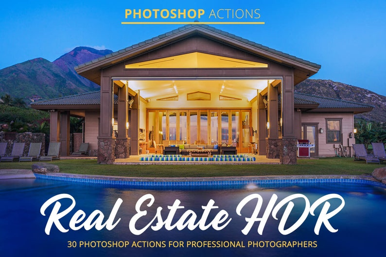 Real Estate Hdr Actions for Photoshop,Real Estate Photoshop Actions,Photoshop Filters,HDR Photo Actions,Adobe Photoshop Action,Hdr Actions