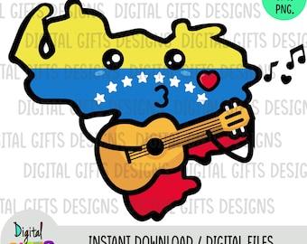 Map Venezuela Kawaii Svg, Png, Jpg Shirt Design, Silhouette, Cricut, Cut Files.