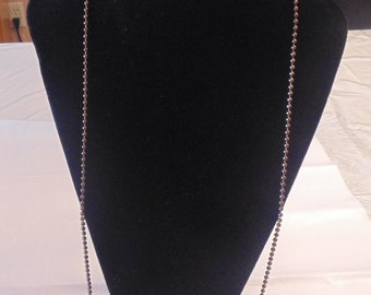 Vintage Copper Ball Chain Necklace
