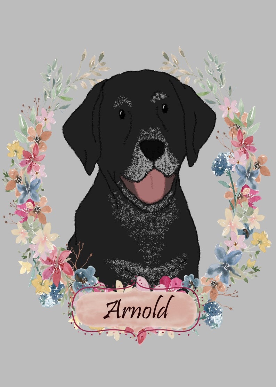 dog dad pet memorial Custom dog portrait Mother/'s day gift Dog Sympathy Pet portrait Custom caricature Pet Loss Gift cat portrait dog mom