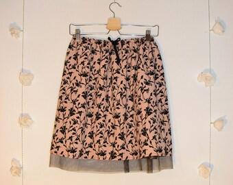 Tulle Hem Flower Skirt